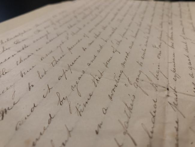Letter in one of our collections in RBSCP
