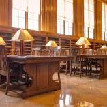 Interior view of the Messinger Periodical Room, Rush Rhees Library 2014